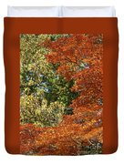 autumn colours in Bavaria Duvet Cover