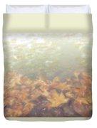 Autumn Leaves Floating In The Fog Duvet Cover