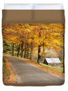 Autumn Road Duvet Cover by Brian Jannsen