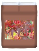 Autumnal Liquidambar Leaves Duvet Cover
