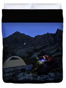 Backpacking Alaska Chugach Mountains Duvet Cover
