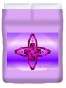 Balance And Harmony - Purple Duvet Cover