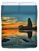 Bandon Beach Sunset Duvet Cover by Adam Jewell