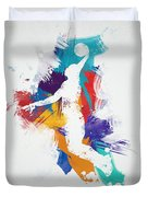 Basketball Player Duvet Cover