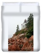 Bass Harbor Head Light Duvet Cover