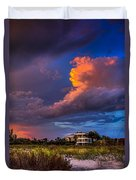 Beach Front Rain Duvet Cover by Marvin Spates