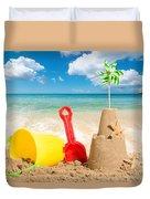 Beach Scene Duvet Cover