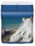 Beachy Head Cliffs And Lighthouse  Duvet Cover