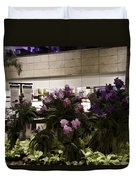 Beautiful Flowers Inside The Changi Airport In Singapore Duvet Cover