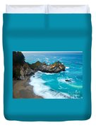 Beautiful Mcway Falls Along The Big Sur Coast. Duvet Cover
