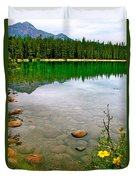 Beauvert Lake In Jasper National Park-alberta-canada Duvet Cover