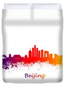 Beijing China Skyline  Duvet Cover