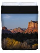 Bell Rock And Courthouse Butte Duvet Cover