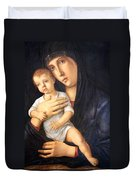 Bellini's Madonna And Child Duvet Cover