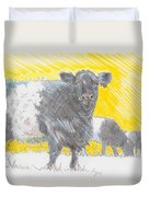 Belted Galloway Cows Duvet Cover