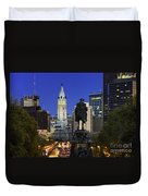 Ben Franklin Parkway And City Hall Duvet Cover