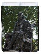 Benjamin Franklin Statue University Of Pennsylvania Duvet Cover