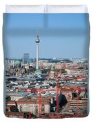 Berlin Cathedral And Tv Tower Duvet Cover