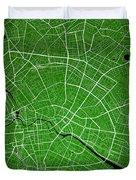 Berlin Street Map - Berlin Germany Road Map Art On Colored Backg Duvet Cover
