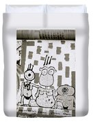 Berlin Wall Avatars Duvet Cover