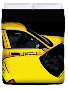 Big Yellow Taxis Duvet Cover