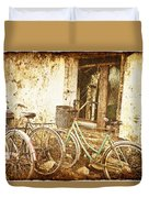 Bikes And A Window Duvet Cover