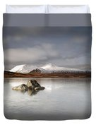 Black Mount And Lochan Na H-achlaise Duvet Cover