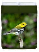 Black Throated Green Warbler Duvet Cover