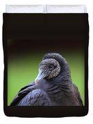 Black Vulture Portrait Duvet Cover