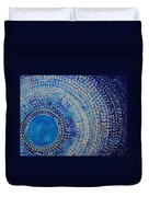 Blue Kachina Original Painting Duvet Cover by Sol Luckman