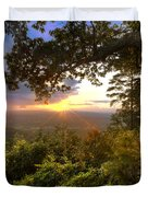 Blue Ridge Mountain Sunset Duvet Cover