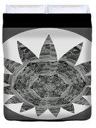 Bnw Black N White Star Ufo Art  Sprinkled Crystal Stone Graphic Decorations Navinjoshi  Rights Manag Duvet Cover