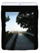 Boardwalk To The Beach Duvet Cover