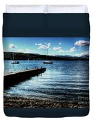 Boats In Wales Duvet Cover
