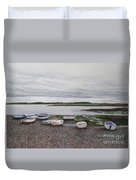 Boats On The Estuary Duvet Cover