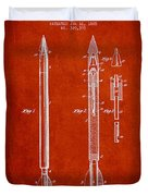 Bomb Lance Patent Drawing From 1885 Duvet Cover
