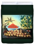 Bond's Still Life Of Bird And Dwarf Pear Tree Duvet Cover
