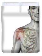 Bones Of The Shoulder Duvet Cover