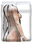 Bones Of The Upper Body Female Duvet Cover