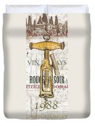 Bordeaux Blanc 1 Duvet Cover