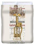 Bordeaux Blanc 2 Duvet Cover by Debbie DeWitt