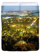 Boulder Colorado City Lights Panorama Duvet Cover