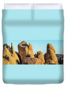 Boulders In A Desert, Joshua Tree Duvet Cover