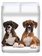 Boxer Puppies Duvet Cover