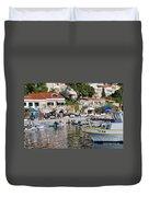 Brela Harbour Croatia Duvet Cover