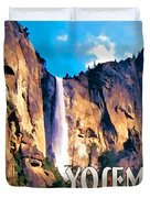Bridal Veil Falls Yosemite National Park Duvet Cover