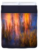 Bridge Of Lions Reflections St Augustine Florida Painted    Duvet Cover