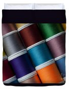 Bright Colored Spools Of Thread Duvet Cover