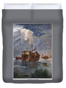 British Prison Ship Duvet Cover