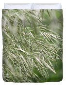 Brome Grass In The Hay Field Duvet Cover